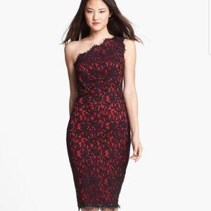 Tadashi Shoji One Shoulder Lace Dress